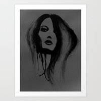pain Art Prints featuring pain by Nicole Stuttard