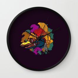 Jatayu, Javanese traditional mask Wall Clock