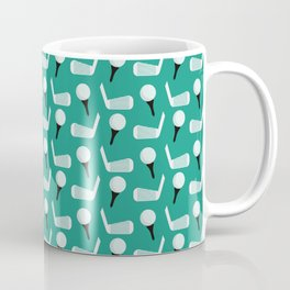 Golfing Pattern (Green) Coffee Mug