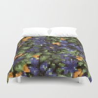 stitch Duvet Covers featuring Cross Stitch by Mr and Mrs Quirynen
