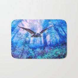 Owl flight Bath Mat