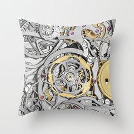 Watch Mechanism Throw Pillow