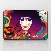 afro iPad Cases featuring Afro Girl by Irmak Akcadogan
