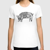pig T-shirts featuring Pig by Ejaculesc