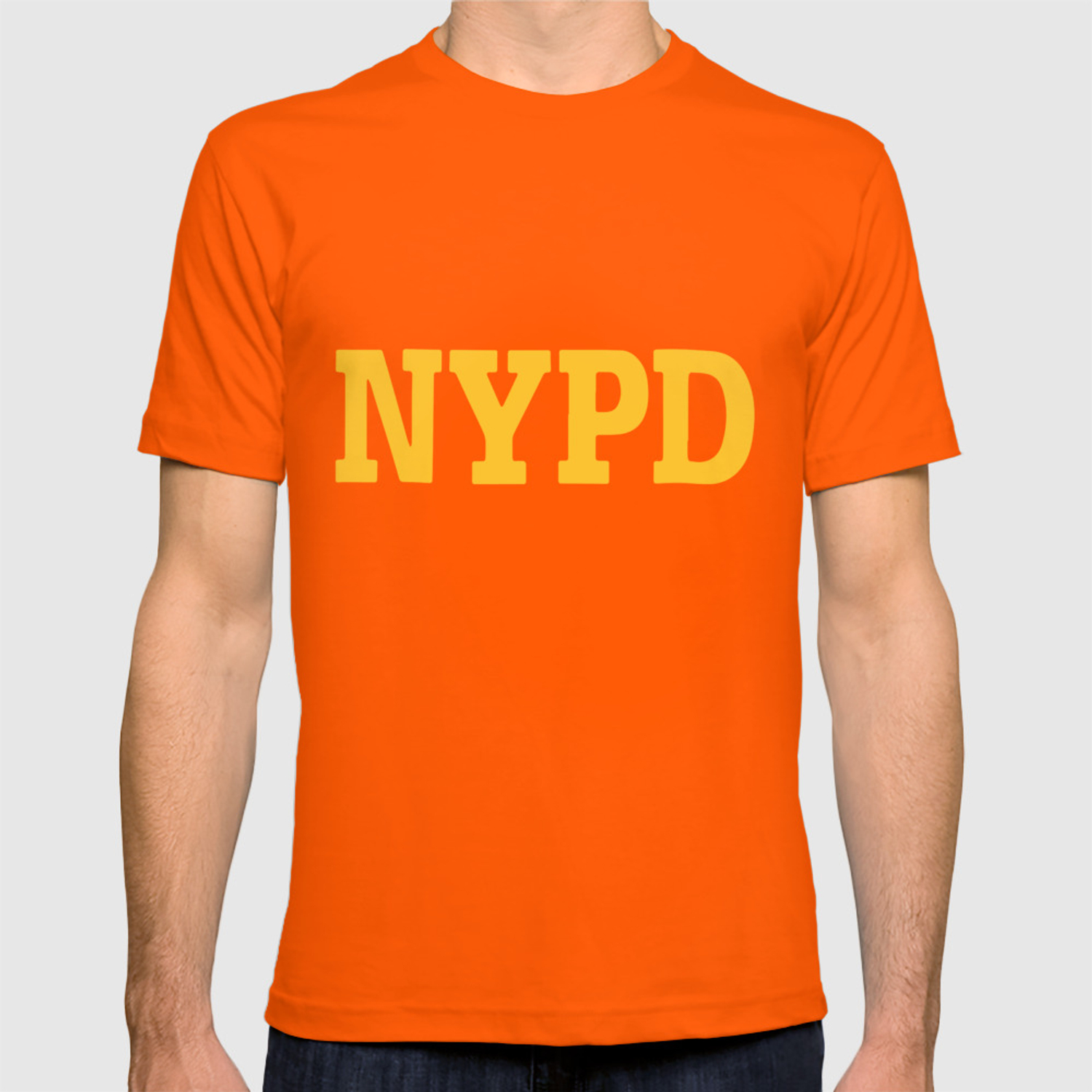 55e0833de Nypd Navy Blue Sleeve Badge Department Police T-shirt by eileneeusebio    Society6