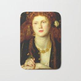 """Dante Gabriel Rossetti """"Bocca Baciata"""" Bath Mat"""