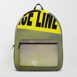 Police Line Do  Not Cross Backpack