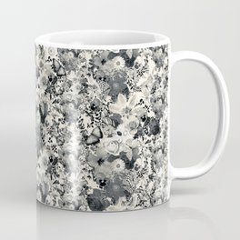 FLORAL Black and white // LIFE OF FLOWERS Coffee Mug