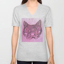 Wise Cat Unisex V-Neck