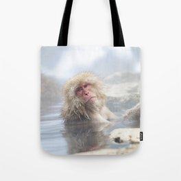 Snow Monkey Hot Springs Tote Bag