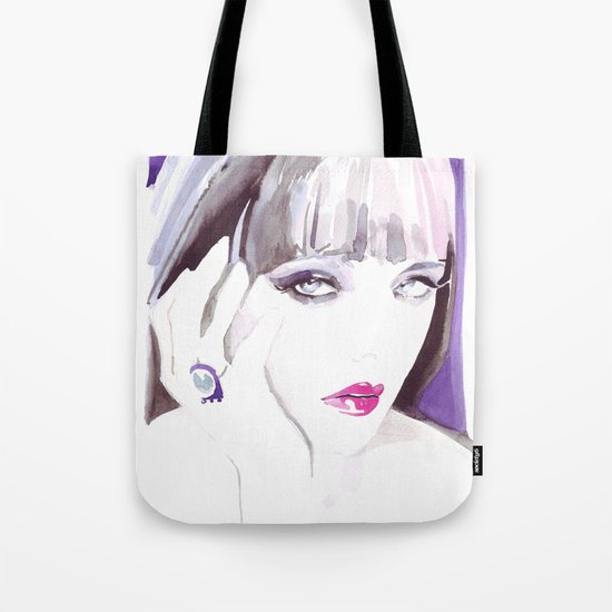 Fashion illustration in watercolors and ink Tote Bag