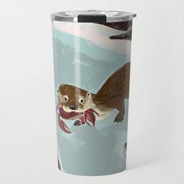 New World otters Travel Mug