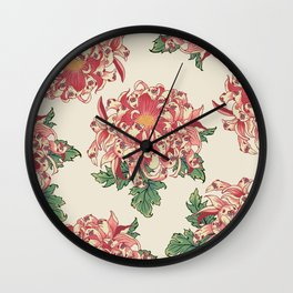 The Chrysanthemum of Pugs Wall Clock