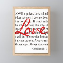Love is Patient, Love is Kind. Framed Mini Art Print