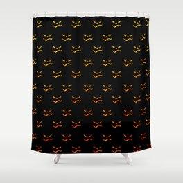 Halloween grimace patten Shower Curtain