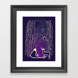 They watch them too Framed Art Print