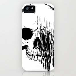 Skull #5 (Distortion) iPhone Case