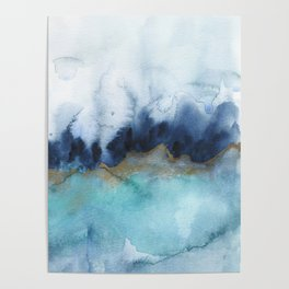 Mystic abstract watercolor Poster