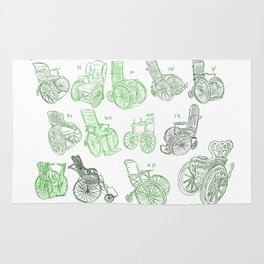 Old wheelchairs Rug