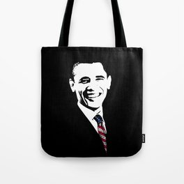 Obama With American Flag Tie Tote Bag