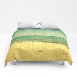 Seascape Vertical Abstract Comforters