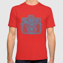I Still Shoot Film Holga Logo - Blue & Red T-shirt