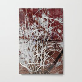Abstract Expressionist Grass Against a Sandstone Wall Metal Print