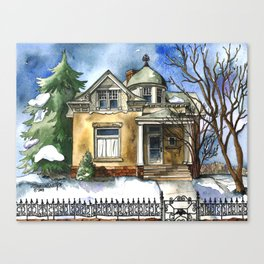 The Little Brown Bungalow Canvas Print