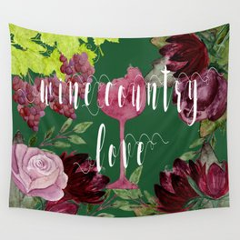 Wine Country Love Wall Tapestry