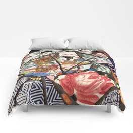 Mosaic with Asian plates Comforters