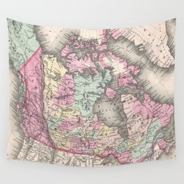 Vintage Map of Canada (1857) Wall Tapestry