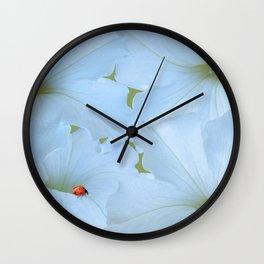 Petunias Petunias Wall Clock