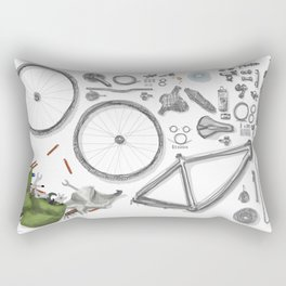 a bike's flatlay Rectangular Pillow