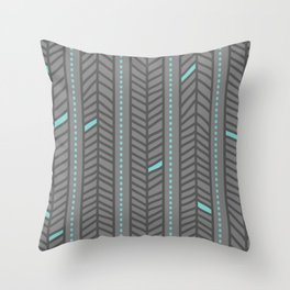 Birdsong Feather Stripe Throw Pillow