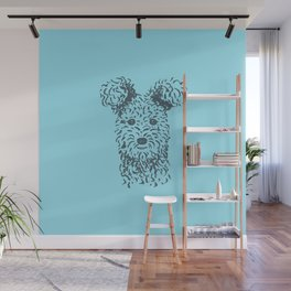 Pumi (Blue and Blue-Gray) Wall Mural
