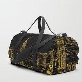 Abstract Gold City  Skyline Design Duffle Bag