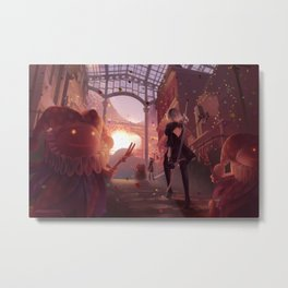 NieR: Automata - Welcome to the Amusement Park Metal Print
