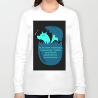 smaug Long Sleeve T-shirts featuring O Smaug by Fairly Artful Artworks