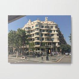 Streets of Barcelona Metal Print