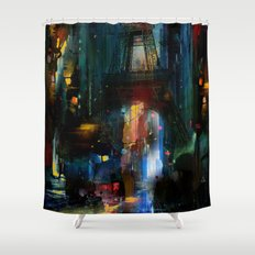 City of Lights Shower Curtain