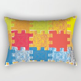 Artistic Composition Game Rectangular Pillow