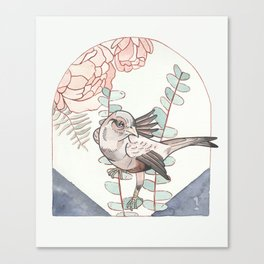 Indigo Bird Canvas Print