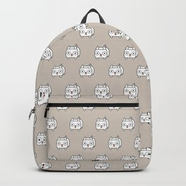Pitbull Loaf - White Pit Bull with Cropped Ears Backpack