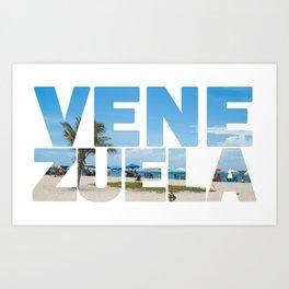 Venezuela y sus playas Art Print