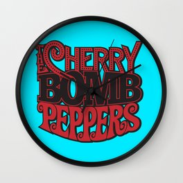 The Cherry Bomb Peppers Wall Clock