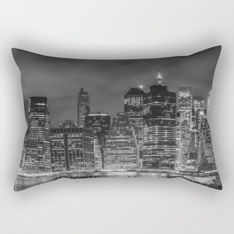 NEW YORK CITY Night Skyline | Panoramic Rectangular Pillow