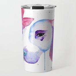 Watercolour Pitbull Travel Mug