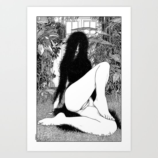 asc 598 - Le monstre d'appartement (An exercice in madness) Art Print