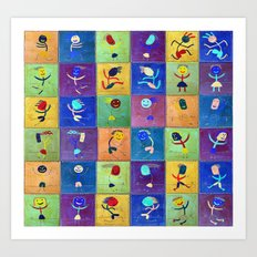 Children's games Art Print