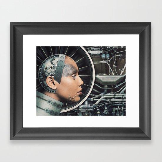 The Female Engine Framed Art Print